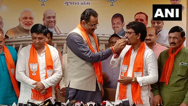 Gujarat OBC leaders Alpesh Thakor and Dhavalsinh Jhala joined bjp