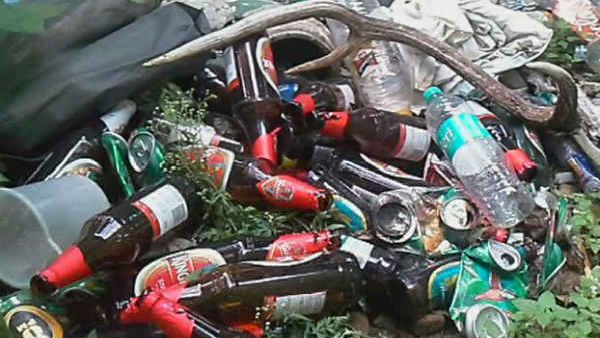 Plastic and alcohol bottle problem in Bandipura