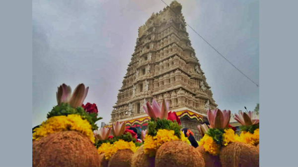 special pooja in Mysuru chamundi hills and Nanjangudu temple due to lunar eclipse