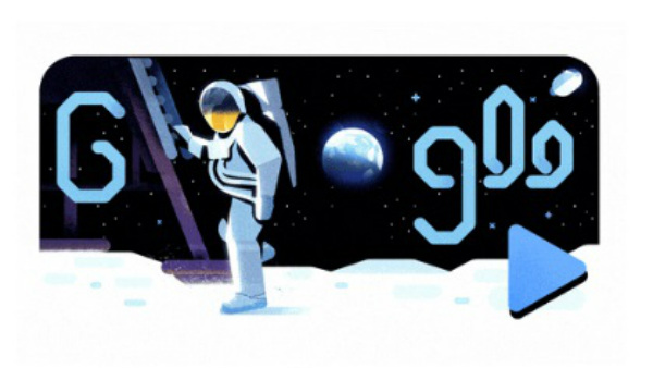 Neil Armstrong appears in Google doodle what is the speciality