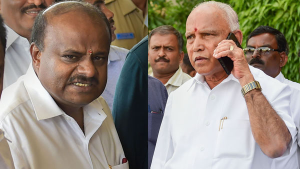 Soon after CM Kumaraswamy press release Yeddyurappa countered back