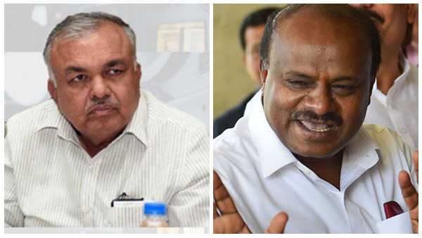 Caretaker cm Kumaraswamy met Ramalinga reddy to discuss political issues