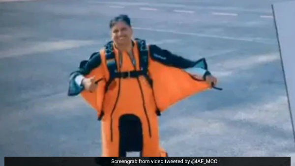 Wing Commander Tarun Chaudhri First IAF Pilot To Do Wingsuit Jump