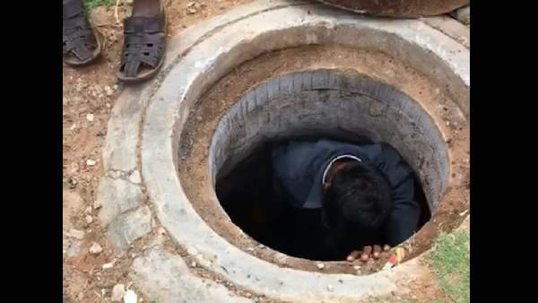 ಮೈಸೂರಿನಲ್ಲಿ ಮ್ಯಾನ್ ಹೋಲ್ ಗೆ ಇಳಿದ ವ್ಯಕ್ತಿ : ವಿಡಿಯೋ ವೈರಲ್