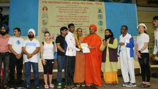 Mysuru boy got 6 awards in Thailand yoga championship