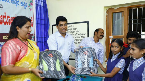 bags distributed to students on behalf of press day