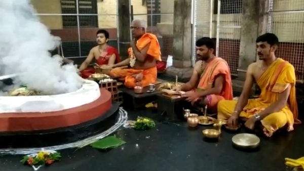Sri Lanka PM Ranil Vikramsinghe offer special pooja to Kollur Mookambika on astrologer advice
