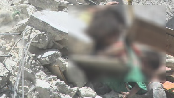5 year old girl dies while protecting their sister from bombing