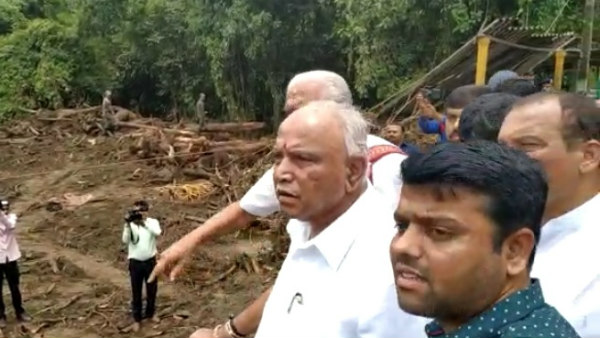 Yeddyurappa Announced 10 Thousand For Flood Victims In Belthangadi