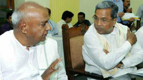Deve Gowda wished Siddaramaiah on his birthday