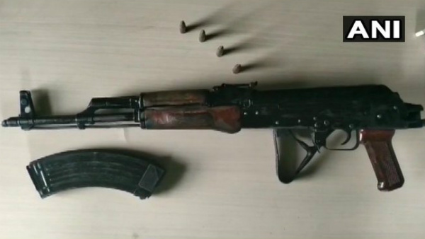 AK-47 rifle recovered from the residence of Bihar Independent MLA