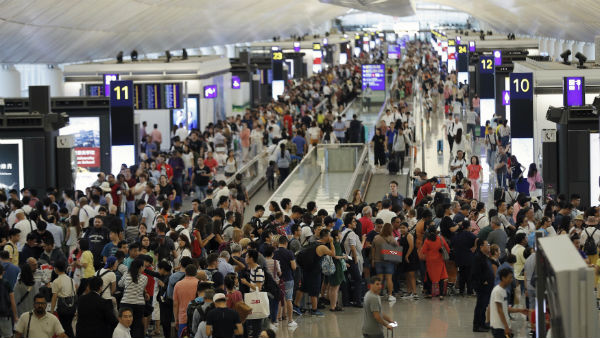 Hong Kong Protest In Airport All Flights Cancelled