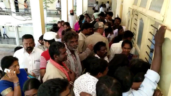 Rush To Get Debt Relief Act Form In Chamarajanagar