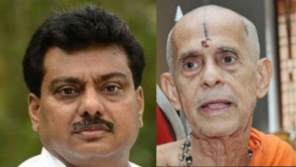 Mb Patil Challenged to Pejavara Shree to Have Food With Dalits