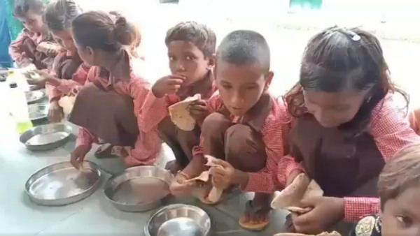 Roti-Salt Meal To School children Priyanka Gandhi Slams UP Government