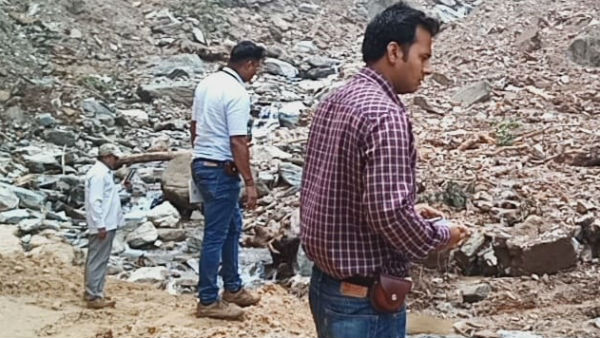 Scientists visit Landslide Areas In Chikkamagaluru