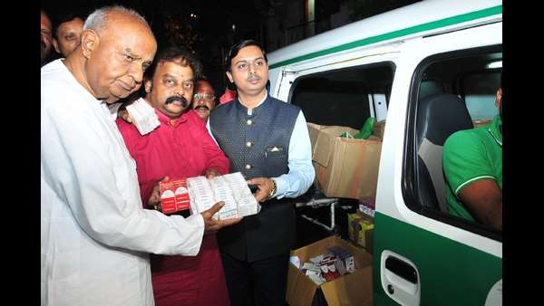 JDS launches Kumara Raksha Ambulance to help Flood hit areas