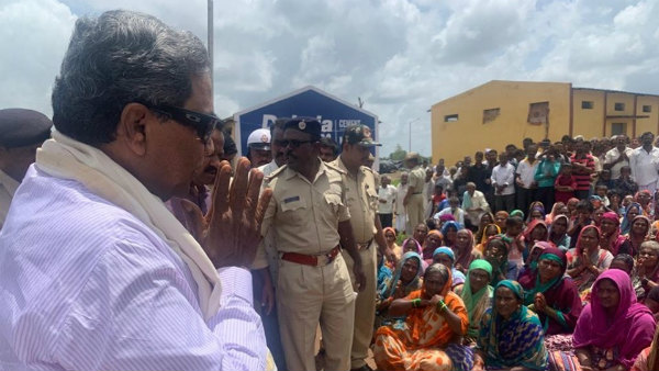 Siddaramaiah visited his constituency badami today
