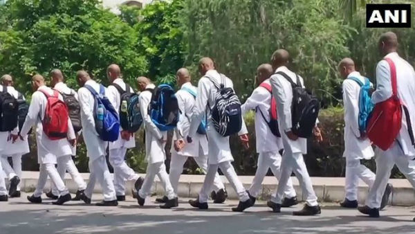 Ragging In Uttar Pradesh Medical College Students Shave Head Salute Seniors