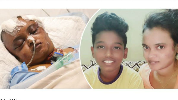 Unaware of his mother's critical condition, 13-year-old is waiting for her back home