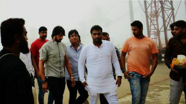 Actor Kichcha Sudeep Visited Chamundi Hill For The Success Of Pailwan Film