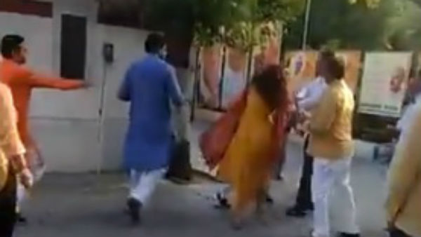 Delhi BJP leader slaps wife in Party office suspended