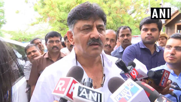 DK Shivakumar congratulate BJP friends after his arrest