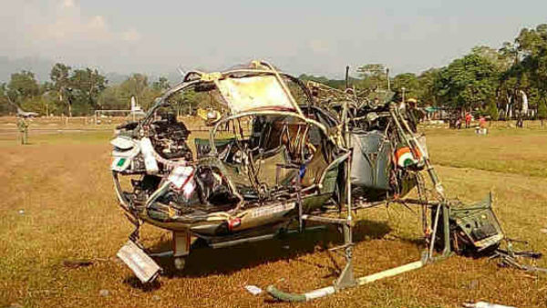 Indian Army Helicopter Crash In Bhutan; Two Pilot Died