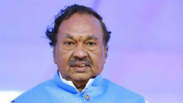 Muslims Who Were Not Voted For BJP, Favor Of Pakistan, Said KS Eshwarappa