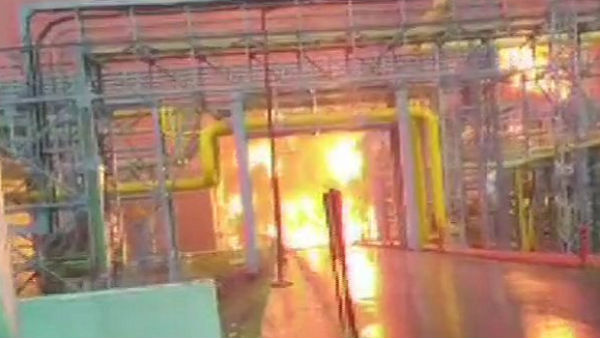 A Fire Broke Out In Storm Water Drainage In Uran Oil And Gas Processing Plant