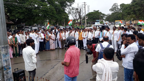 Protest In Davanagere And Chitradurga Against Arrest Of DK Shivakumar
