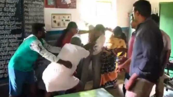 A Teacher Trashed By Villagers For Miss behaving In School