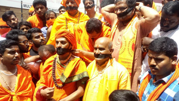 Devotees Angry On CT Ravi and BS Yediyurappa During Shobha Yatra