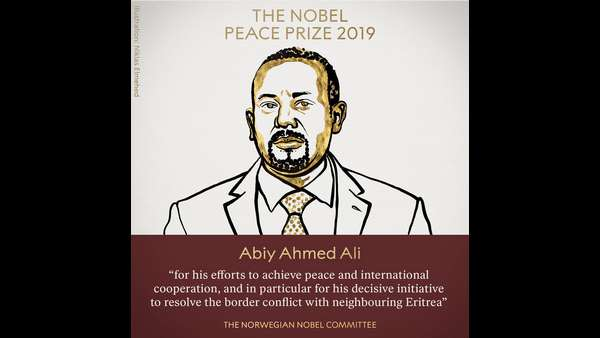 Nobel Peace Prize 2019 For Ethiopian PM Abiy Ahmed