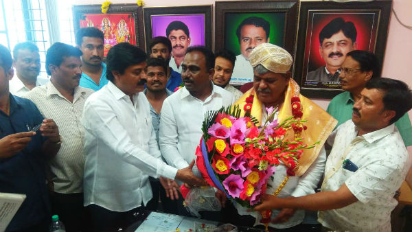 DK Shivakumar Close Aid Basappa Elected As Chairman Of District Panchayat