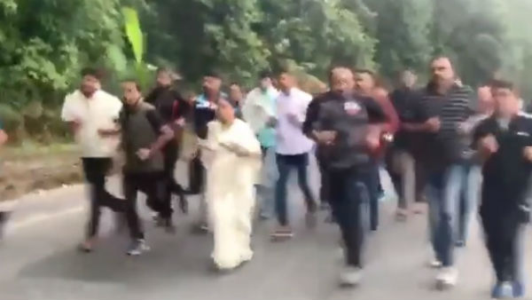Mamata Banerjee went on a 10 km Jog with associates, Video Goes Viral