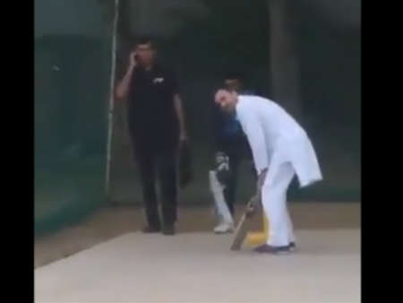Congress leader Rahul Gandhi plays Cricket In Haryana