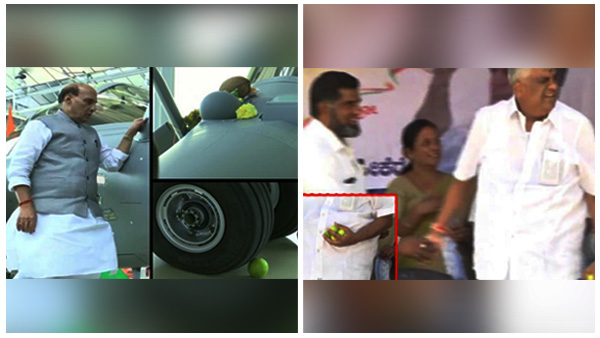 Former Minister HD Revanna And Union Defence Minister Rajnath Singh Belief In Lemon