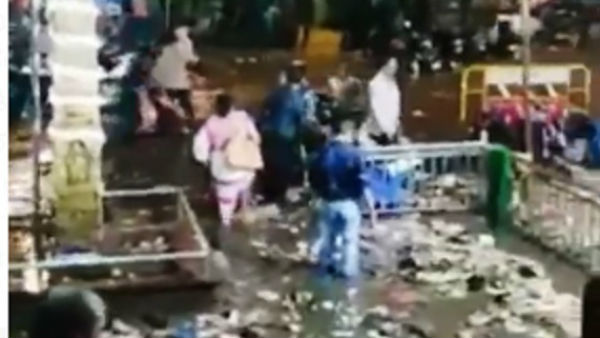 Temple In Hubballi Filled With Drain Water From Rain