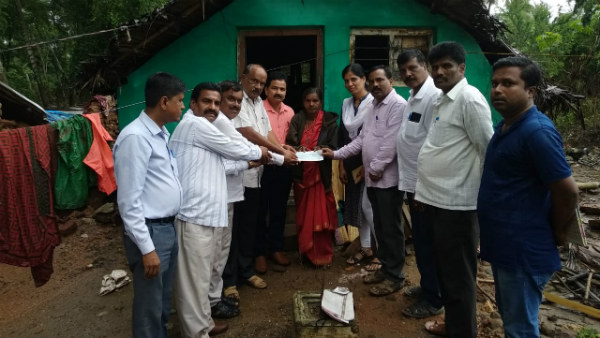 District Administration Of Nanjanagudu Took Back 5 Lakh Cheque OF The Flood Victim