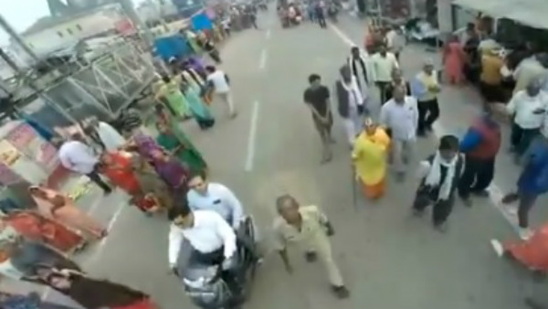 Ayodhya Verdict: Aerial view of Ayodhya streets from surveillance drone