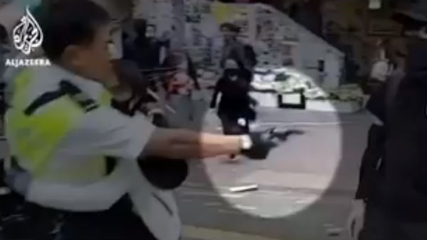The police opened fire on the protesters