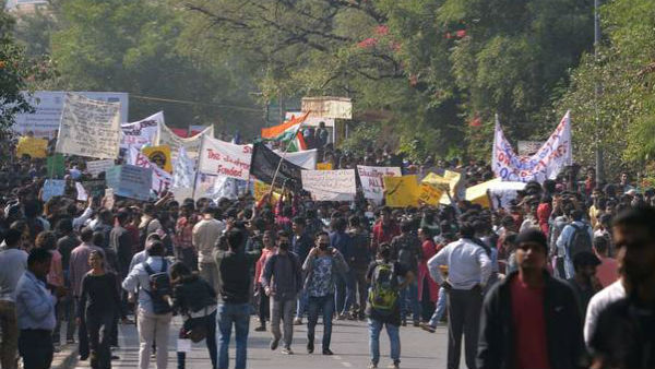 FIR against unidentified persons in JNU protest case