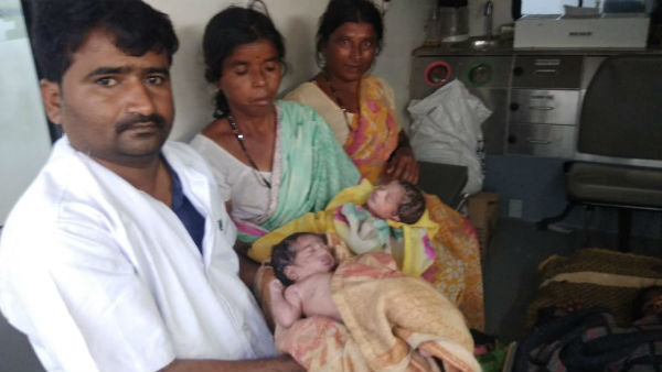 Women Gave Birth For Twins In An Ambulance In Bagalkot