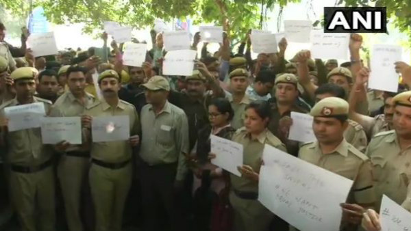 Cops Protest Outside Police Head Quarters