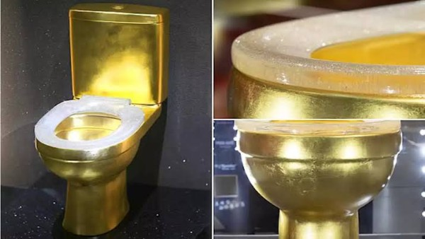 Gold Toilet With 40,000 Diamonds Studded Creates Social Media Storm