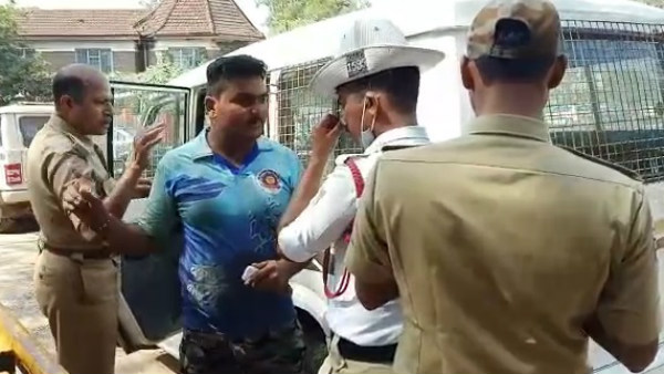 Traffic Police Assaulted By Driver In Belagavi