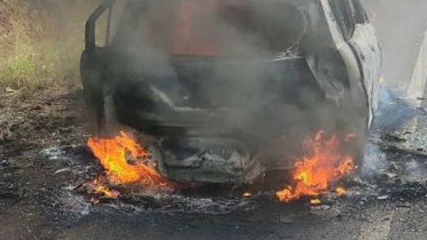 Car Catches Fire At Baidar Women Burnt Alive