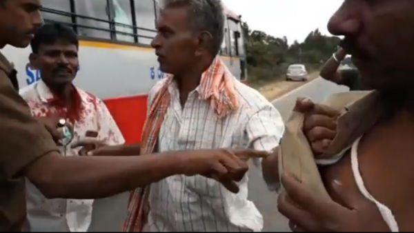 KSRTC Bus Conducter Hit Passenger For Asking Balance Money