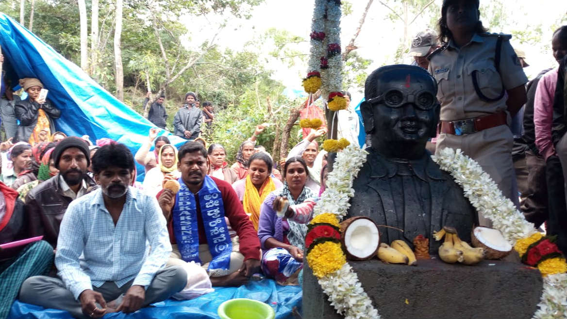 Is CT Ravi Support Behind Ambedkar Statue Installed Overnight In Chikkamagaluru